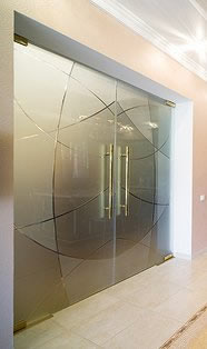 Modern glass doors for home or office.