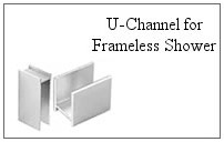 U-channel for a frameless glass shower.