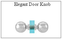 Elegant handle for glass shower door.