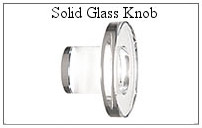 Solid glass knob for glass shower door.