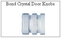 Bond crystal door knob for glass shower door.