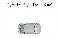Cylinder style door knob for glass shower door.