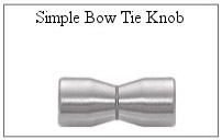 Simple bow tie knob for glass shower door.