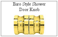 Euro-style shower door knob for glass shower door.
