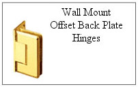Wall mount, offset back plate hinge.