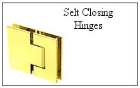 Self closing hinge.