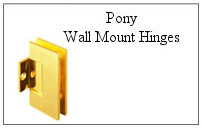 Pony wall mount hinge.