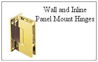 Wall and inline panel mount hinge.