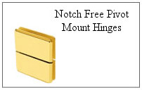 Notch free pivot mount hinge.