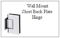 Wall mount short back plate hinge.