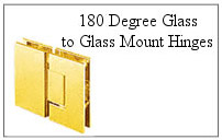 180 degree glass-to-glass mount hinge.