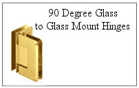 90 degree glass-to-glass mount hinge.