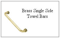 Brass single-side towel bar.