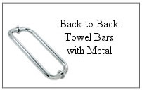 Back-to-back towel bar with metal.