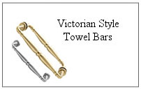 Victorian style towel bar.