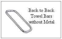 Back-to-back towel bar without metal.