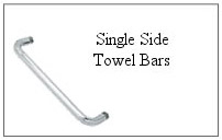 Single side towel bar.